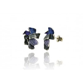 Summum Modernist Enamel Earrings