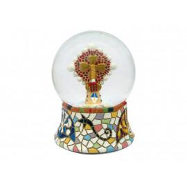 Boule de neige de cristal Pinacle 8 cm