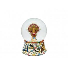 Boule de neige de cristal Pinacle 4,5 cm