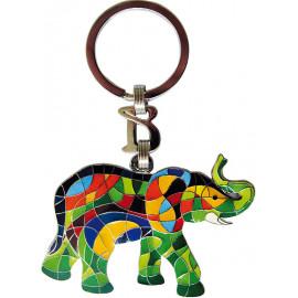 Trencadis Elephant Keyring