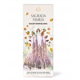 Chocolat noir avec des morceaux d'orange Sagrada Familia