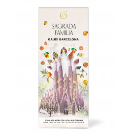 Dark Chocolate with pieces of orange Sagrada Familia