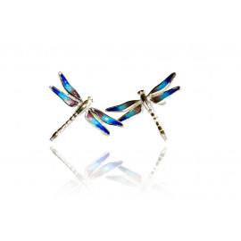 Blue Dragonflies Set Earrings