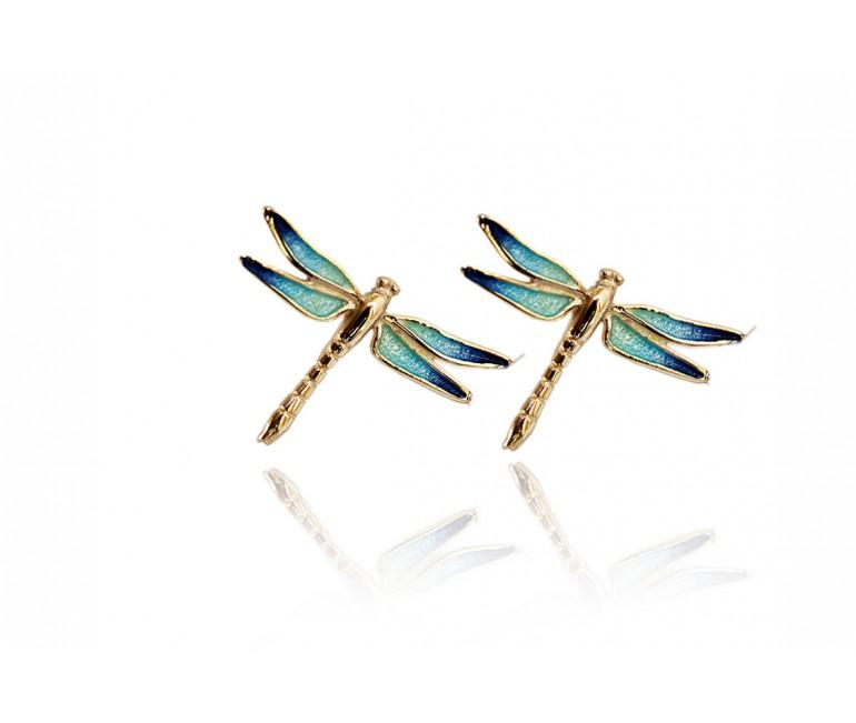Boucles d'oreilles Turquoise libellule