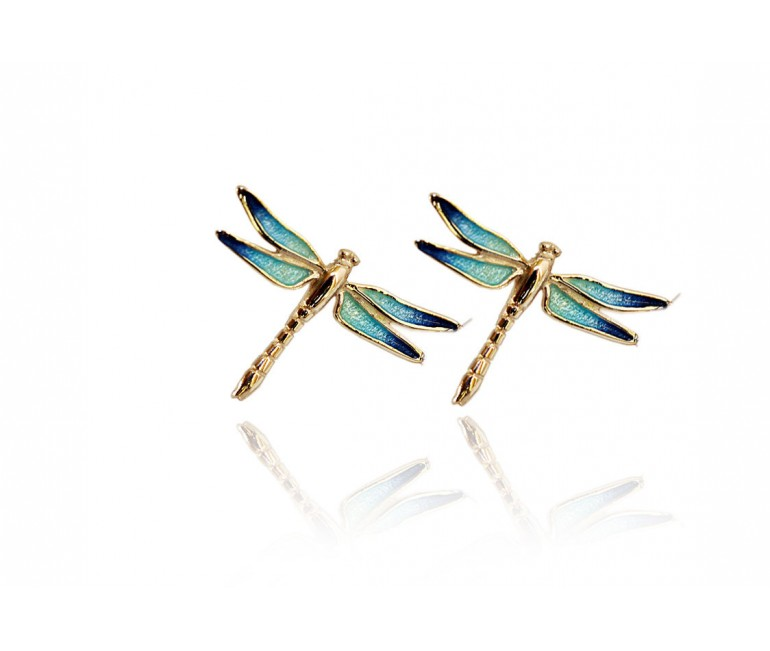 Turquoise Dragonfly Set Earrings