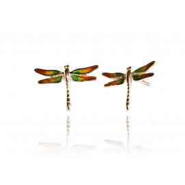 Boucles d'oreilles Set Dragonfly rouge