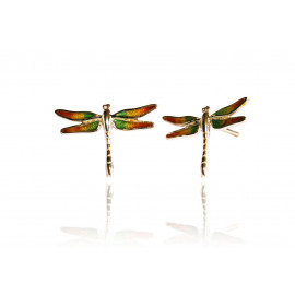Red Dragonfly Set Earrings