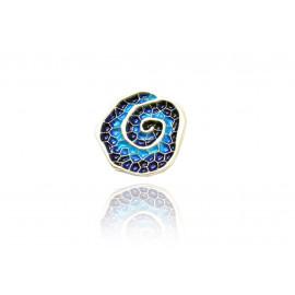 Colgante acaracolado pequeño azul