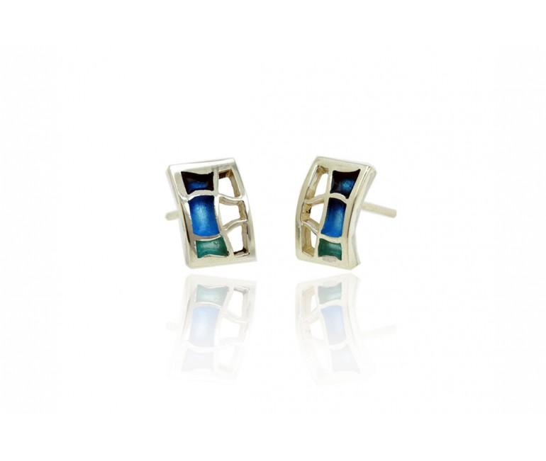 Earrings Pedrera Blue