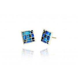 Earrings Gaudí Vitral Blue