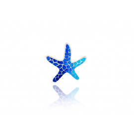 Colgante Estrella Gaudí Trencadís Azul Pequeño