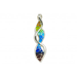 Colorful serpentine pendant