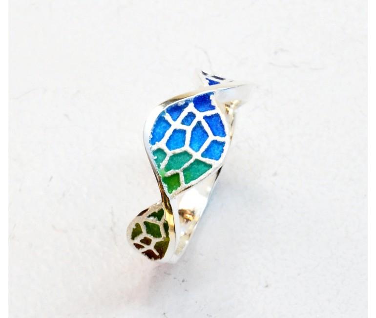 Serpentine ring Trencadís colorful