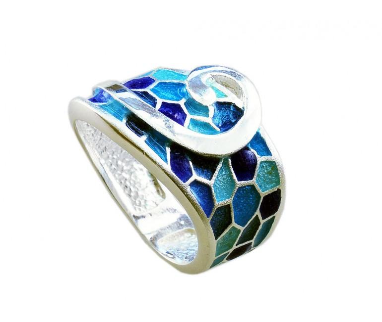 Anell G de Gaudí blau