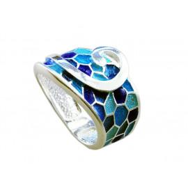 Anillo G de Gaudí azul
