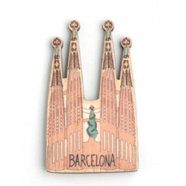 Sagrada Familia Wood Magnet