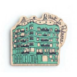 La Pedrera-Casa Milà Wood Magnet