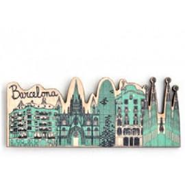 Imant fusta Skyline Barcelona