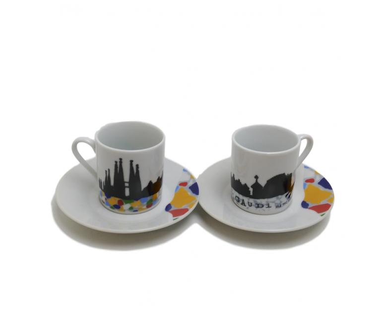 2 Tazas 2 Platos de café