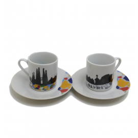 Round coffee set Sagrada Familia