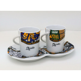 Set You and Me with 2 Mugs & Plate