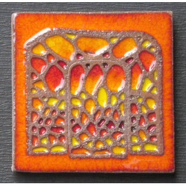 Imán en cerámica puerta de La Pedrera