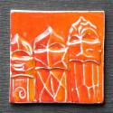 Imán en cerámica guerreros de La Pedrera