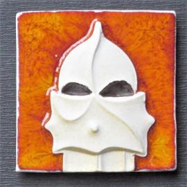 Imán en cerámica guerrero La Pedrera