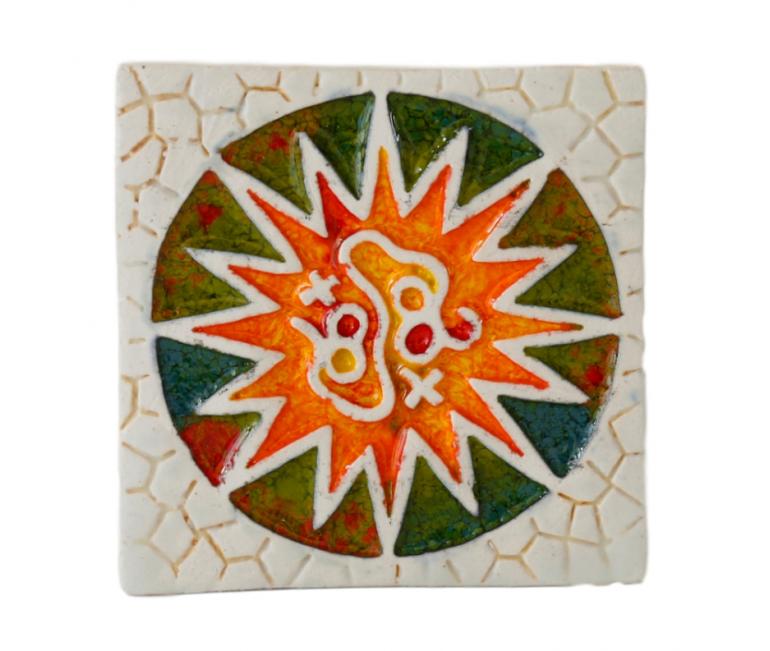 Aimant en céramique rosette Parc Güell