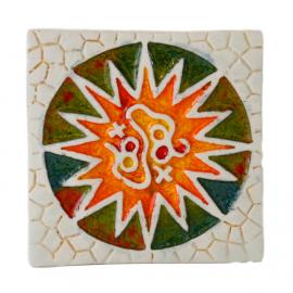 Imán en cerámica rosetón Parc Güell