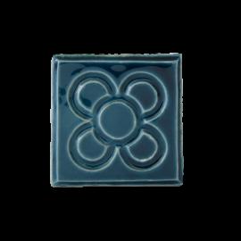 Imán en cerámica flor Barcelona