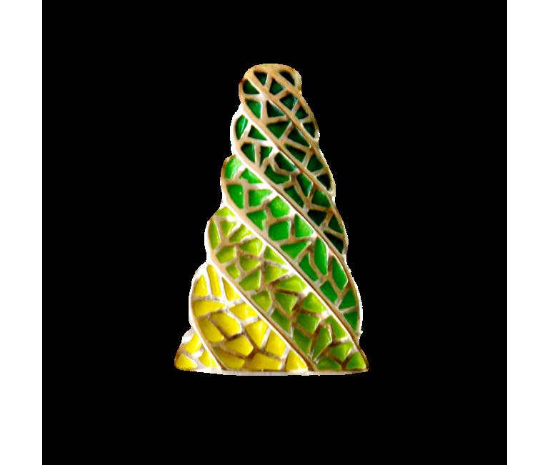 Small Pendant Chimney Gaudi Trencadis Green
