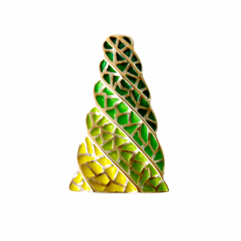 Small Pendant Chimney Gaudi Trencadis Green
