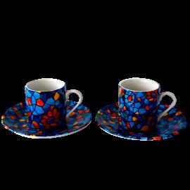 Set espresso Gaudi Vitral