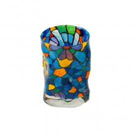 Vaso de vidrio Triana Vitral