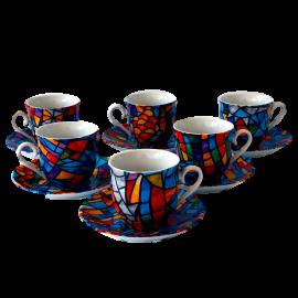 Set 6 Espresso Coffee Cups Sagrada Familia