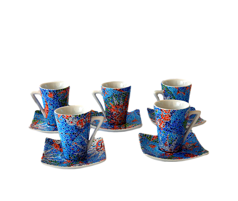 Set 6 tazas café espresso Dong Soles