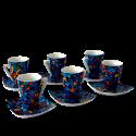 Set 6 tazas café espresso Dong Vitral