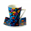 Set 6 Espresso Coffee Cups Dong Vitral
