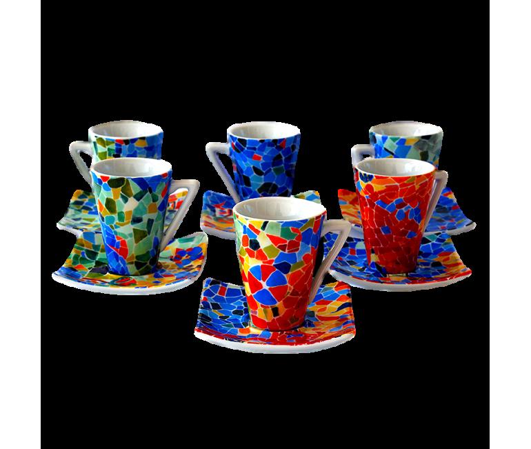 Set 6 tasses de café espresso Dong Aurora