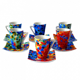 Set 6 Espresso Coffee Cups Dong Aurora