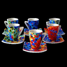 Set 6 tasses cafè espresso Dong Aurora