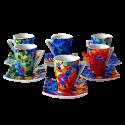 Set 6 Espresso Coffee Cups Dong Aurora