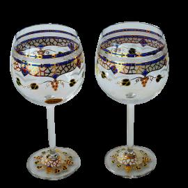 Ensemble de deux verres de vin Gaudí