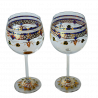 Set of Two Gaudi Burgundy Wine Cups