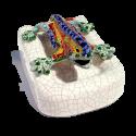 Drac Park Güell amb peanya en ceràmica