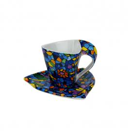 Tassa i plat cafè Triangular Vitral