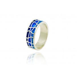 Gaudi Blue Trencadis Ring