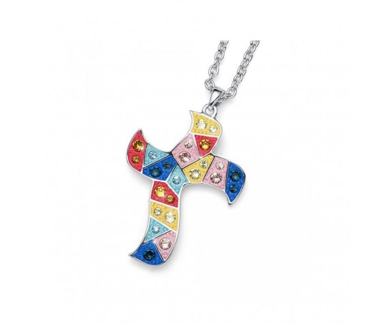 Pendant Gaudi Cross Multicolor