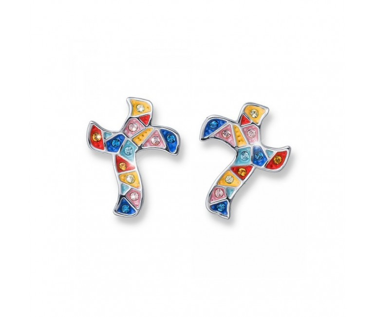Earrings Gaudi Cross